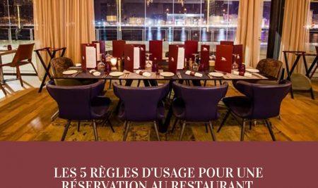 LES 5 RÈGLES D'USAGE POUR UNE RÉSERVATION AU RESTAURANT.