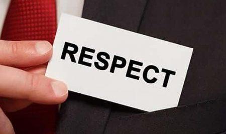 LE RESPECT, LA BASE DE LA RELATION HUMAINE.
